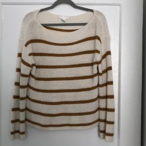 Mustard and cream stripped sweater